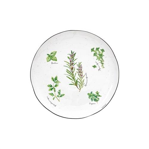 Обеденная тарелка из фарфора «Herbarium»