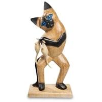 Статуэтка «Кот с уловом» 40-032