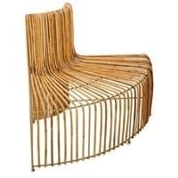 Декоративная скамья «Бамбук» со спинкой FINALI-84