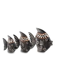 Набор из трех фигурок «Рыба» 25-030 (о. Бали)