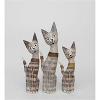 Набор из трех фигурок «Кошка» 99-014 (о. Бали)