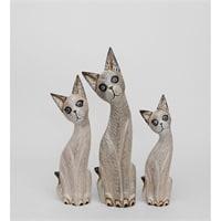 Набор из трех фигурок «Кошка» 99-012 (о. Бали)