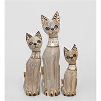 Набор из трех статуэток «Кошка» 99-006 (о. Бали)