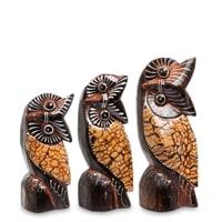 Набор из трех фигурок «Сова» 99-431 (о. Бали)