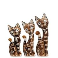 Набор из трех фигурок «Кошка» 99-143 (о. Бали)