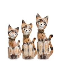 Набор из трех фигурок «Кошка» 99-219 (о. Бали)