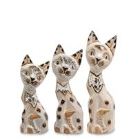 Набор из трех фигурок «Кошка» 99-045 (о. Бали)