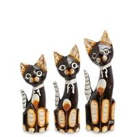 Набор из трех фигурок «Кошка» 99-073 (о. Бали)