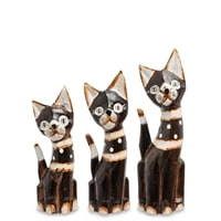 Набор из трех фигурок «Кошка» 99-150 (о. Бали)