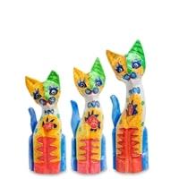 Набор из трех фигурок «Кошка» 99-275 (о. Бали)