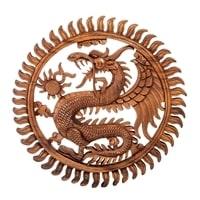 Панно резное «Дракон» A 17-065 (суар, о. Бали)