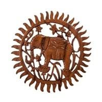 Панно резное «Слон» 17-068 (суар, о. Бали)