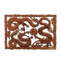 Панно резное «Драконы» A 17-057 (суар, о. Бали)