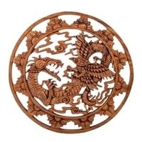 Панно резное «Дракон» B 17-065 (суар, о. Бали)