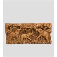 Панно резное «Слоны» 17-014 (суар, о. Бали)