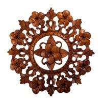 Панно резное «Цветы» 17-051 (суар, о. Бали)