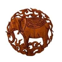 Панно резное «Слон» 17-022 (суар, о. Бали)