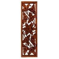 Панно резное «Цветы» 17-054 (суар, о. Бали)