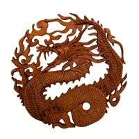 Панно резное «Дракон» 17-017 (суар, о. Бали)