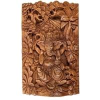 Панно резное «Ганеша - Бог Изобилия» 17-001 (суар, о. Бали)