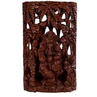 Панно резное «Ганеша - Бог Изобилия» 17-002 (суар, о. Бали)