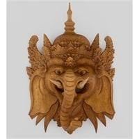 Панно резное «Ганеша - Бог Изобилия» 17-009 (суар, о. Бали)