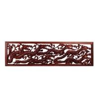 Панно настенное «ДРАКОН» в резной рамке (красное дерево) В2-0184