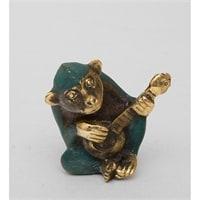 Фигура из бронзы Обезьяна «Игра на ситаре» 24-005 (о. Бали)