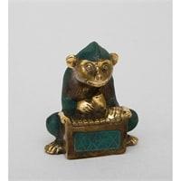 Фигура из бронзы Обезьяна «Игра на маримбе» 24-008 (о. Бали)