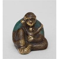 Фигура из бронзы «Горилла» 24-012 (о. Бали)