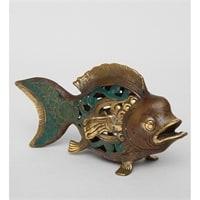 Фигура из бронзы «Рыба» 24-047 (о. Бали)