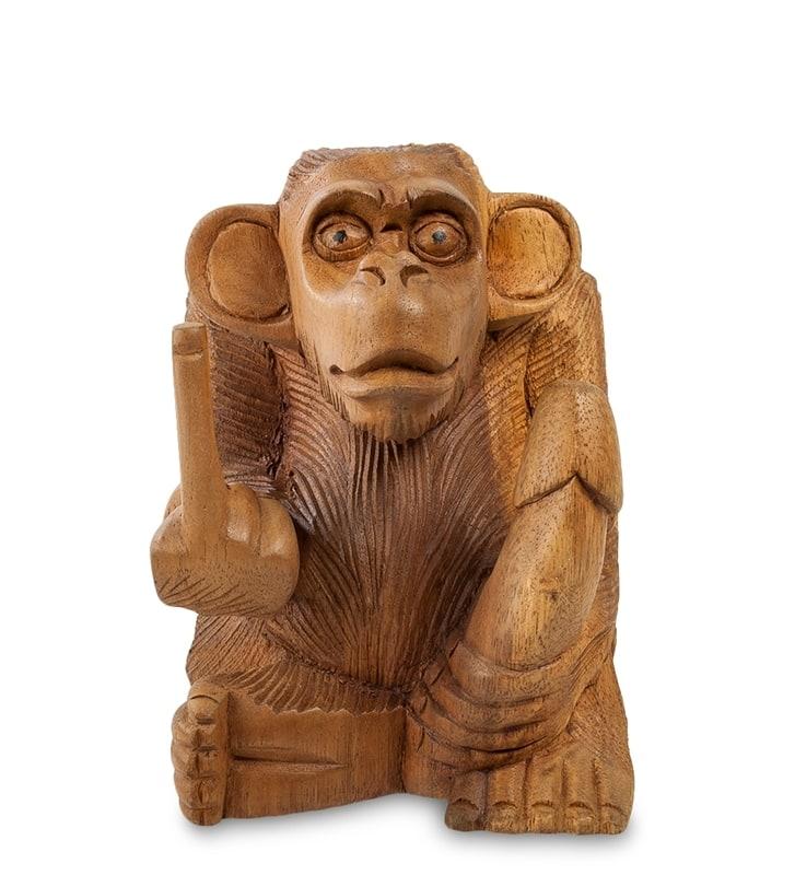 Термобелье фигурки обезьяны из дерева добавлением шерсти