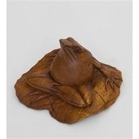 Статуэтка «Лягушка на листе» 15-058