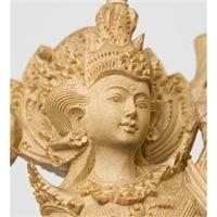 """15-022 Статуэтка """"Сарасвати - богиня всех наук"""" крок.дерево"""