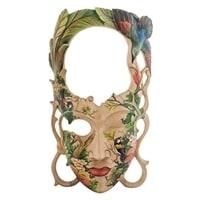 """Зеркало-маска расписная """"Тропический остров"""" 44-004 A"""