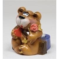 Подсвечник гипсовый «Медведь»