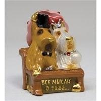 """Фигурка гипсовая """"Собаки на скамейке"""" эк. 15855"""