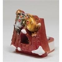 Подсвечник гипсовый «Коты на крыше»