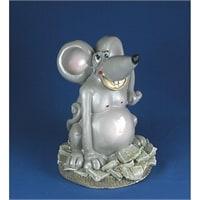 """Копилка гипсовая """"Крыса на деньгах"""""""