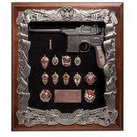Ключница «Маузер со знаками ФСБ» ПК-171