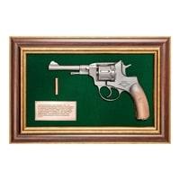 Панно с пистолетом «Наган» в подарочной упаковке ПК-218