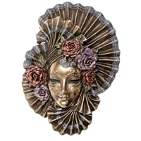 Венецианская маска «Пионы» WS-335