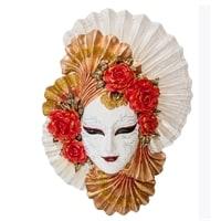 Венецианская маска «Пионы» WS-336