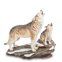 Статуэтка «Волк с детенышем» WS-708