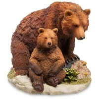 Статуэтка «Бурый медведь с детенышем» WS-776