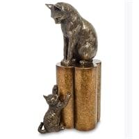 Статуэтка «Кошка с котенком - воспитание» WS-883