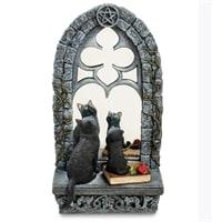 Статуэтка «Кошка с котенком у зеркала» WS-885