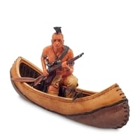 """Статуэтка """"Индеец на каноэ"""" WS-725"""