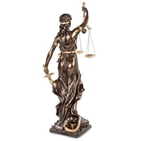 "WS-653/ 2 Статуэтка ""Фемида - богиня правосудия"""
