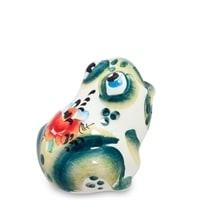 Подставка для зубочисток «Лягушка» (Гжельский фарфор)
